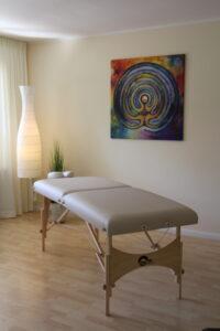 Behandlungsraum der Naturheilpraxis Leimen